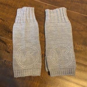 Light Gray Michael Kors Fingerless Gloves
